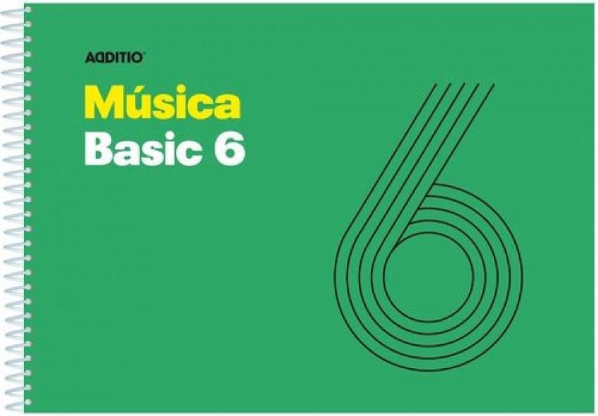 Cuaderno espiral musica basic 6 pentagramas de 9mm por pagina 25 hojas 8428318012607