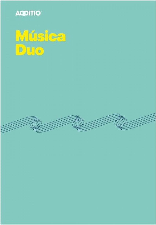 Cuaderno musica a4 duo 8 pentagramas de 9mm por pagina con cuadricula inferior para anotaciones 8428