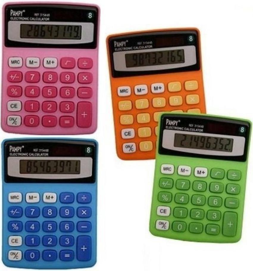Calculadora de bolsillo 8 digitos Pampy Poessa colores surtidos 8430173154484