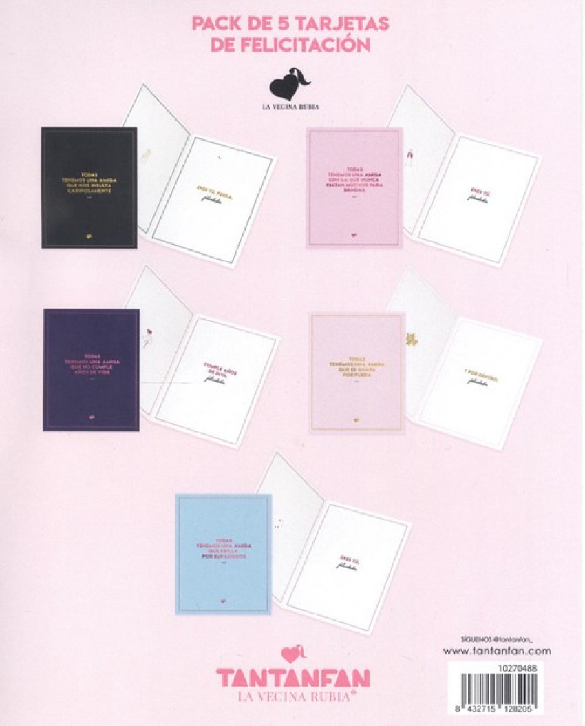 Pack 5 tarjetas de felicitación la vecina rubia 8432715128205