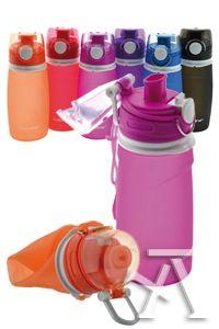 C/6 botella plegable de silicona b-water colores surtidos 8435258855119
