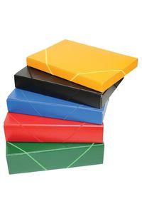 Carpeta proyectos gomas folio carton gofrado lomo 5cm rojo 8436013251665