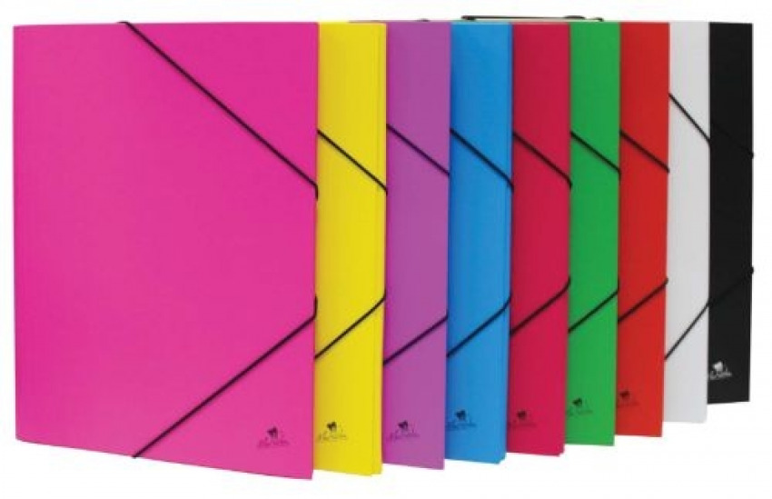 Paq/8 carpeta fo. gomas y solapas carton forrado colores surtidos 8436013254574