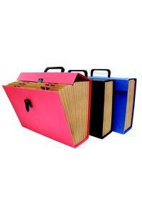 Maletin fuelle fo. carton forrado rojo en geltex a-z/1-31 con asa serie caceres 8436013255557