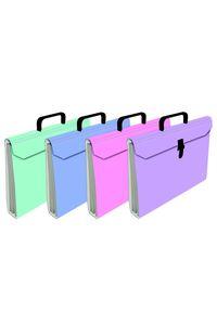 Paq/4 maletin fuelle fo. acordeon 6 bolsas carton plastificado colores surtidos 8436013257490