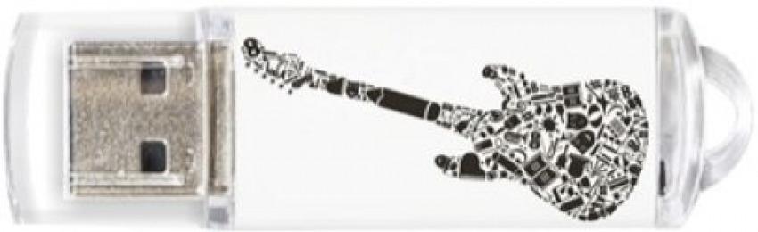 Pendrive 32gb usb 2.0 crazy black guitar 8436546592150