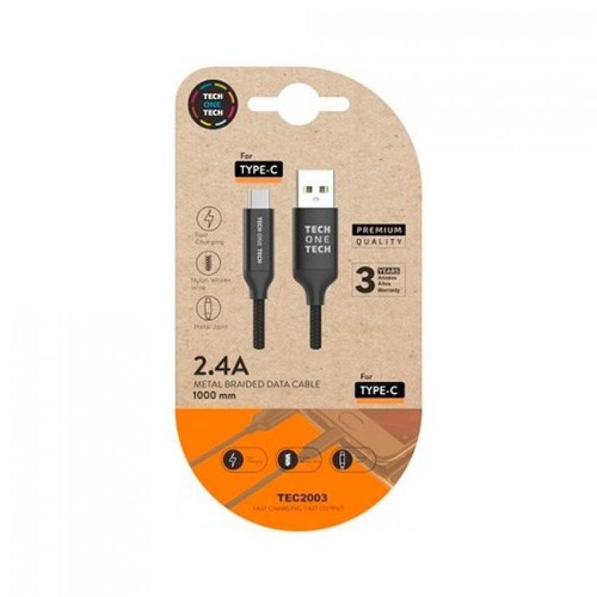 BLISTER CABLE DE DATOS USB- C (MULTI) 1M COLOR NEGRO 8436546592242
