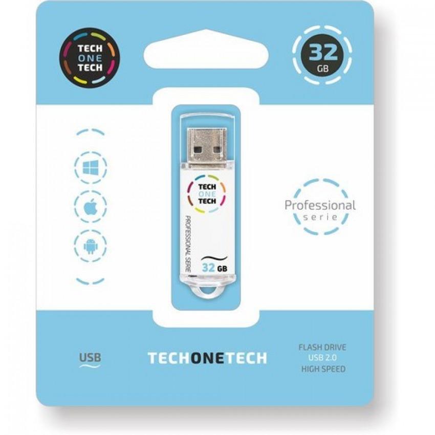 PENDRIVE 32GB USB 2.0 SMART TECH BLANCO 8436546592310