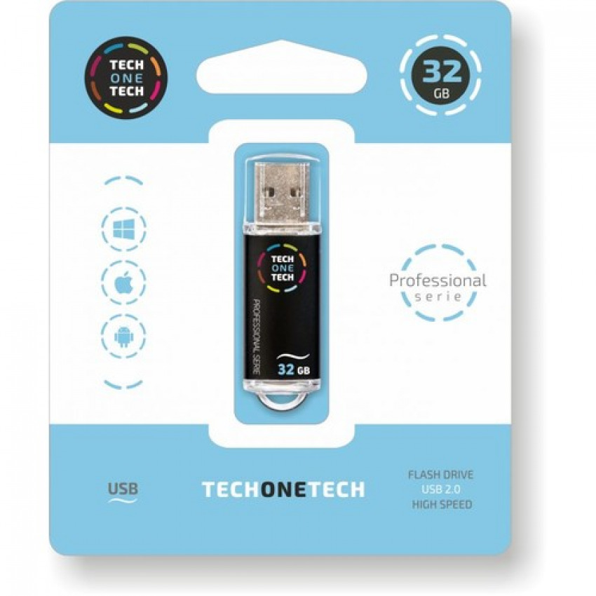 PENDRIVE 32GB USB 2.0 SMART TECH NEGRO 8436546592327