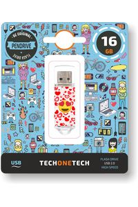 PENDRIVE 16GB USB 2.0 HEART-EYES 8436546592389