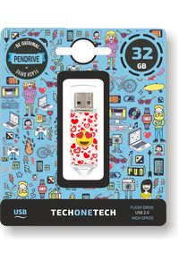 PENDRIVE 32GB USB 2.0 HEART-EYES 8436546592419
