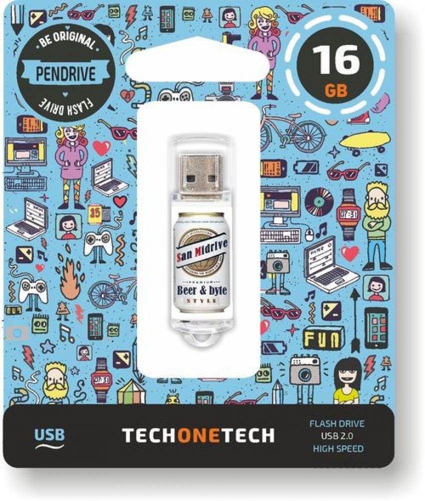 PENDRIVE 16GB USB 2.0 BEERS &BYTES SAN MIDRIVE CERVEZA 8436546592570