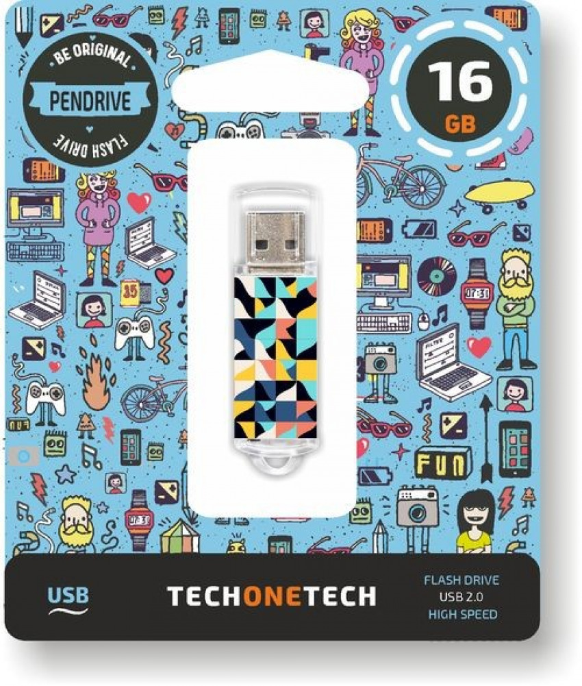 PENDRIVE 16GB USB 2.0 KALEYDOS 8436546592600