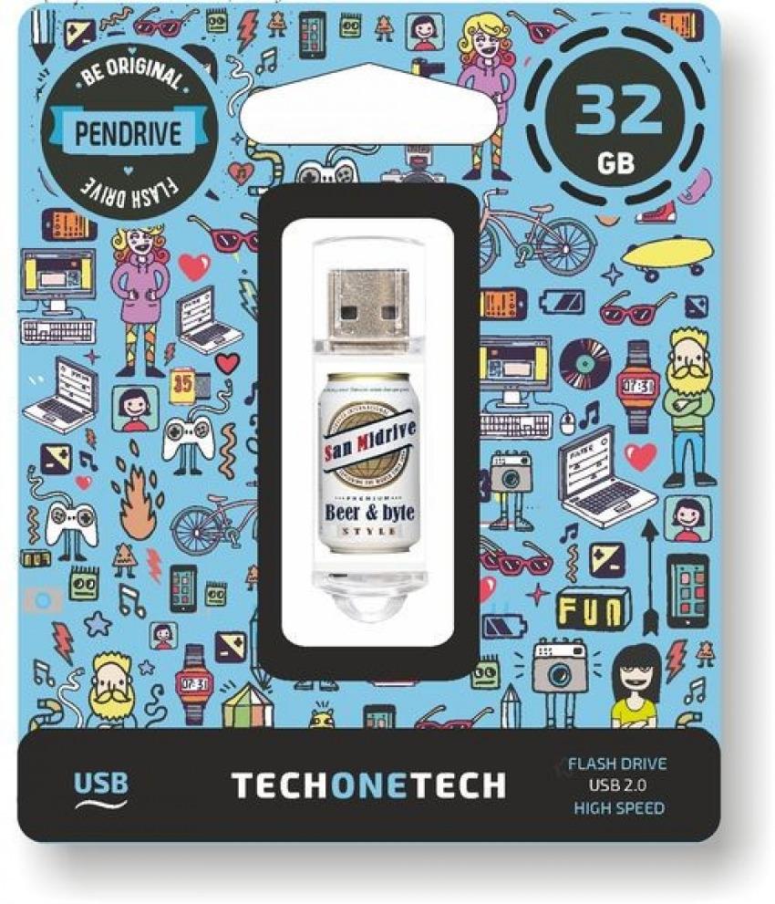 PENDRIVE 32GB USB 2.0 BEERS &BYTES SAN MIDRIVE CERVEZA 8436546592617