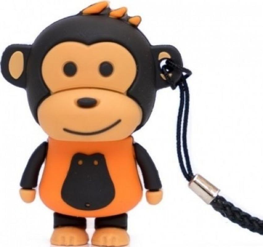 MEMORIA USB PENDRIVE MAKAKO MONO NARANJA 32GB 8436546593003