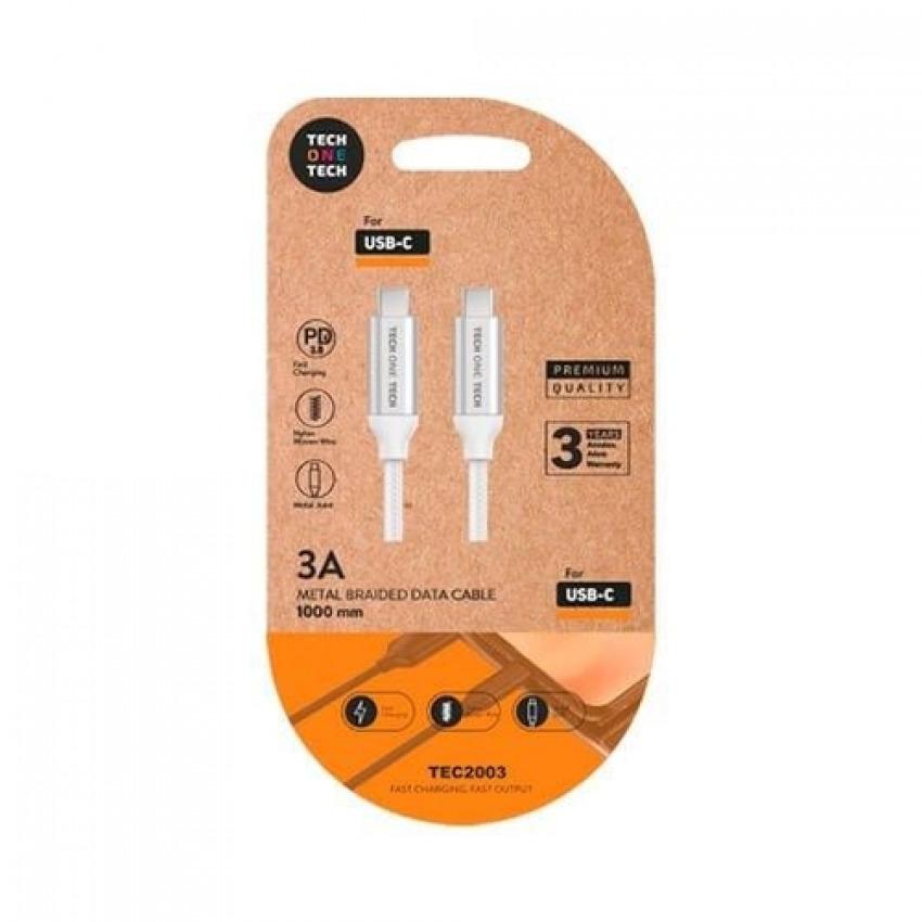 BLISTER CABLE DE DATOS DOBLE USB-C 1M COLOR GRIS 8436546593089