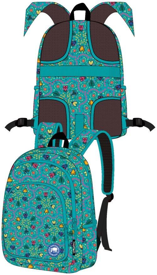 Mochila escolar triple taupacor moon adaptable carro 8446322742082