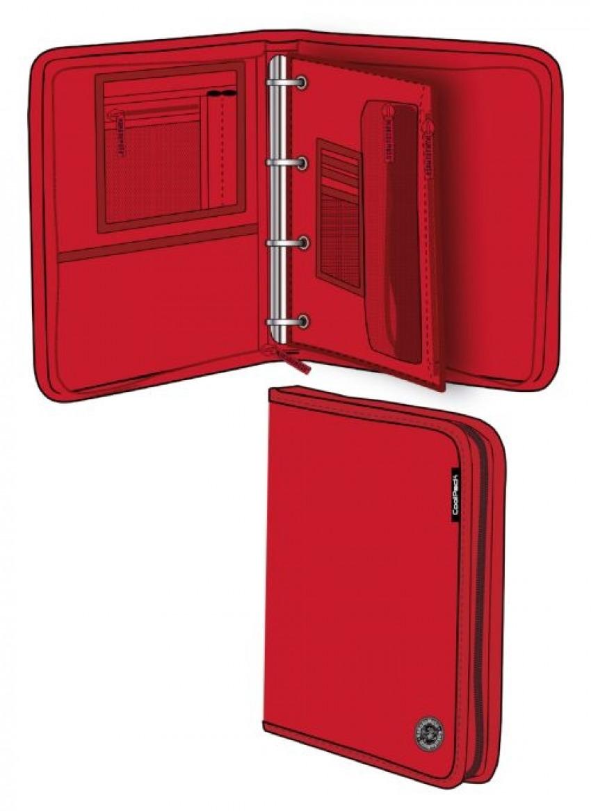 Carpeta a4 con anillas y cremallera red melange wind 8446322772072