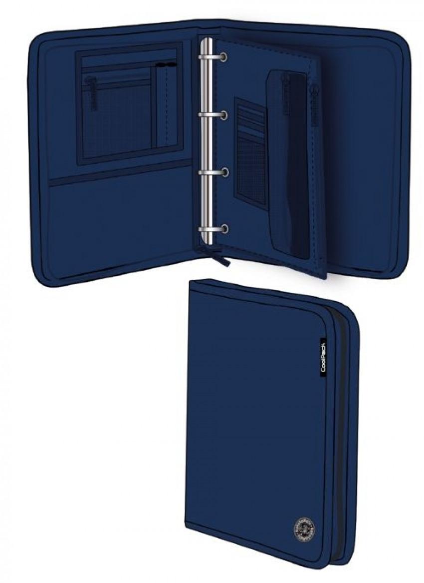 Carpeta a4 con anillas y cremallera blue melange wind 8446322792070