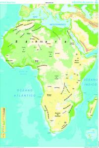 Mapa Mural África (físico/político) galego 1285x915 mm 8482890002258