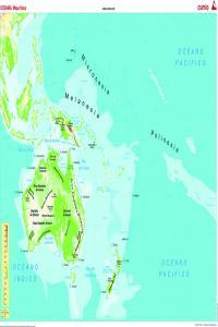 Mapa mural Oceanía (físico/polício) 1285x915mm 8482890002388