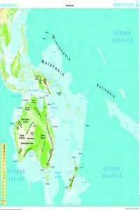 Mapa Mural Oceanía (físico/político) galego 1285x915 mm 8482890002395