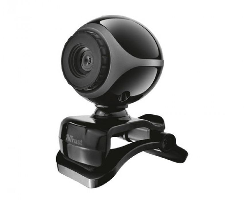 Webcam trust exis 640x480p color negro 8713439170030