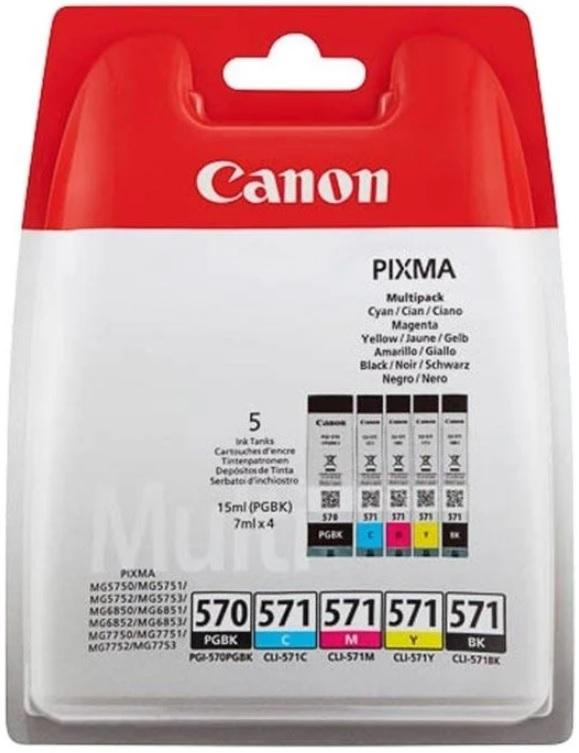 CARTUCHO TINTA ORIGINAL CANON PGI570/CLI571 BCMY 8714574631660