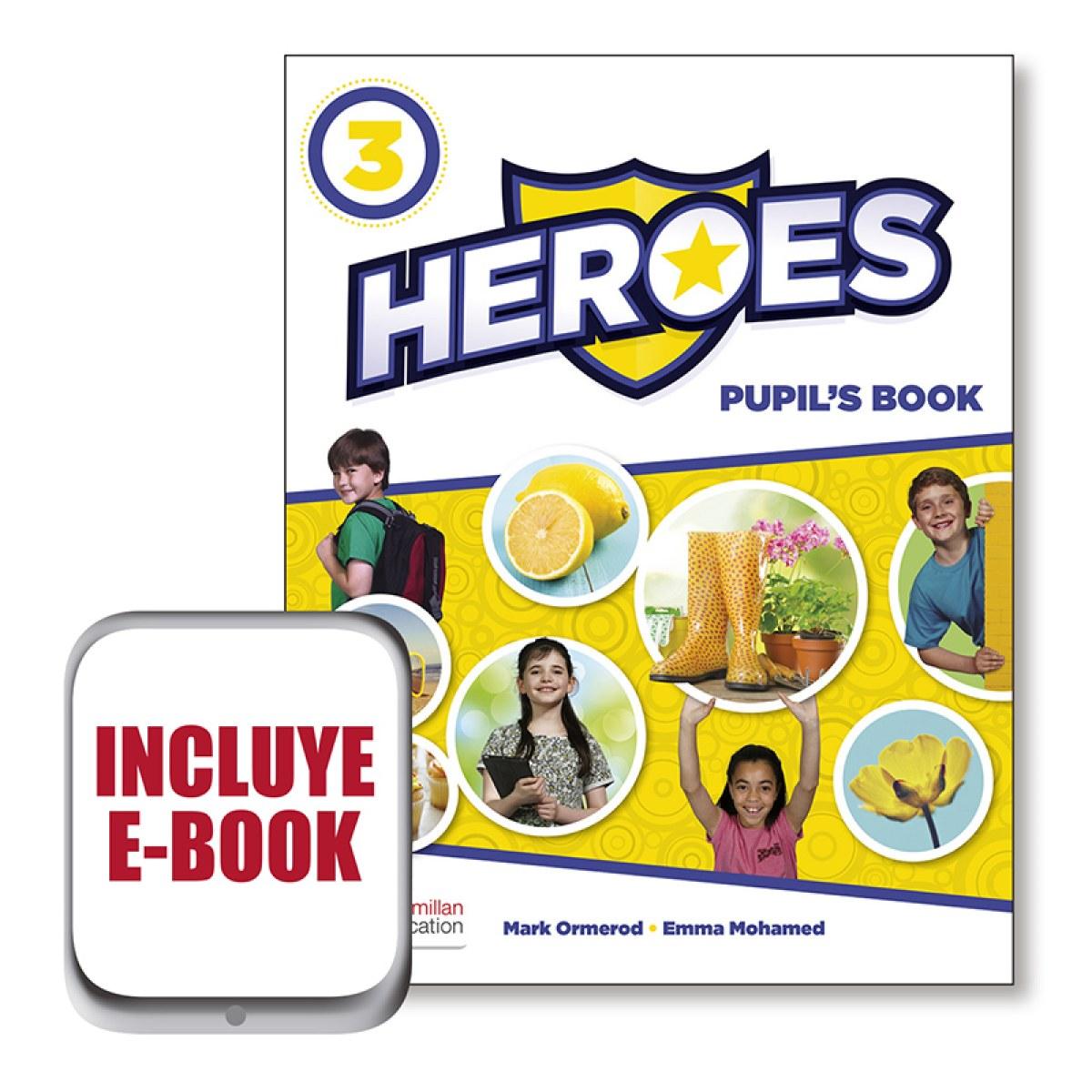 HEROES 3 Pb (+ebook) Pk 9781380008541