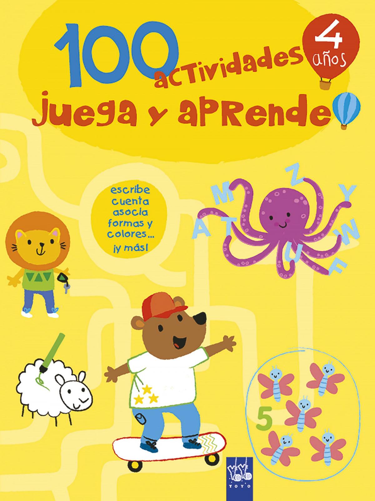 100 actividades juega y aprende 4 años 9788408221418
