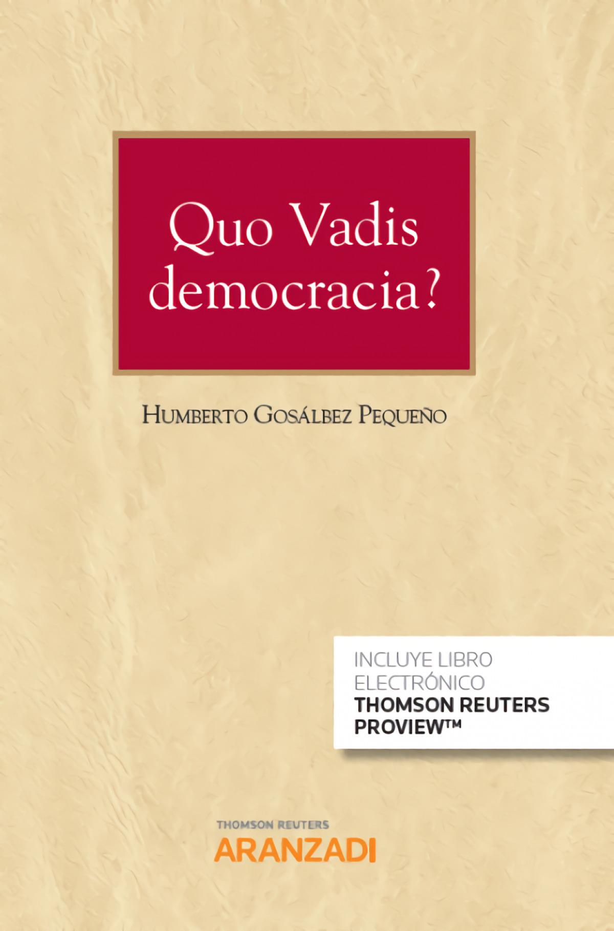 QUO VADIS DEMOCRACIA DUO 9788413084602