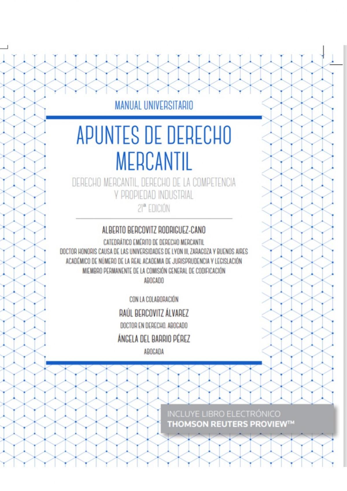Apuntes de Derecho Mercantil (Papel + e-book) 9788413088204