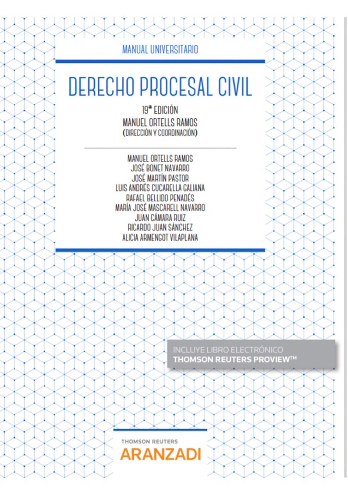 Derecho Procesal Civil (Papel + e-book) 9788413089348