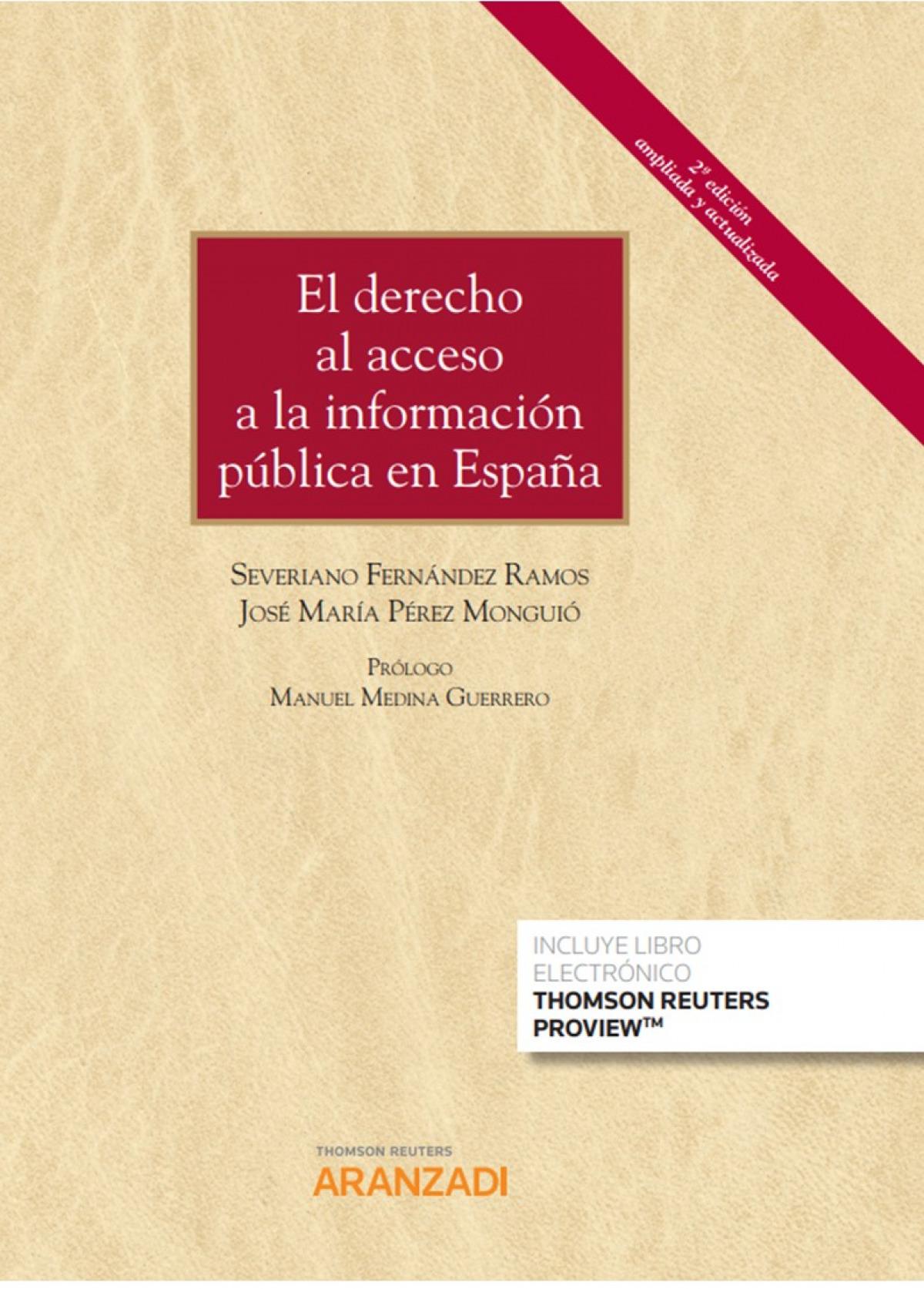 El derecho al acceso a la información pública en España (Papel + 9788413093062