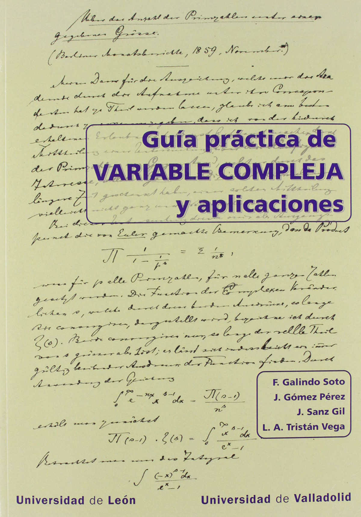 GUÍA PRACTICA DE VARIBALE COMPLEJA Y APLICACIONES 9788413200149