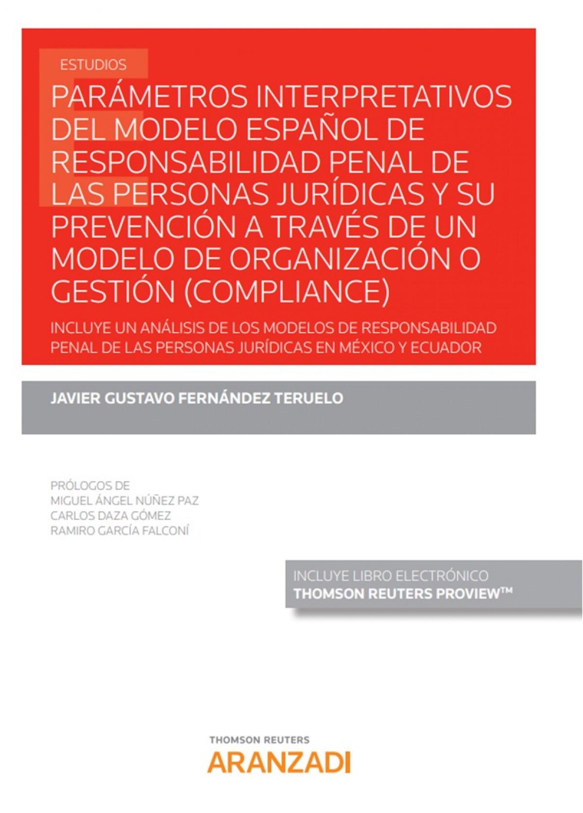 Parámetros interpretativos del modelo español de responsabilidad 9788413450643