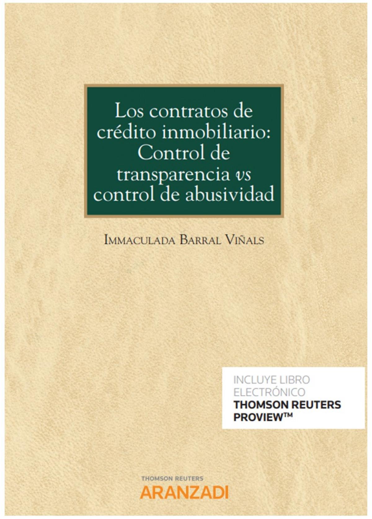 Contratos de crédito inmobiliario, Los: 9788413450681
