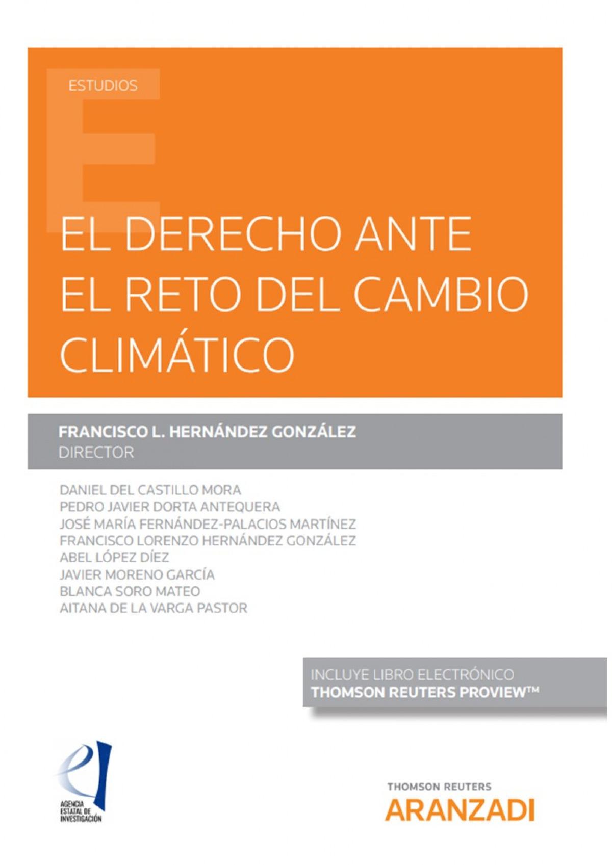 El derecho ante el reto del cambio climático (Papel + e-book) 9788413452364