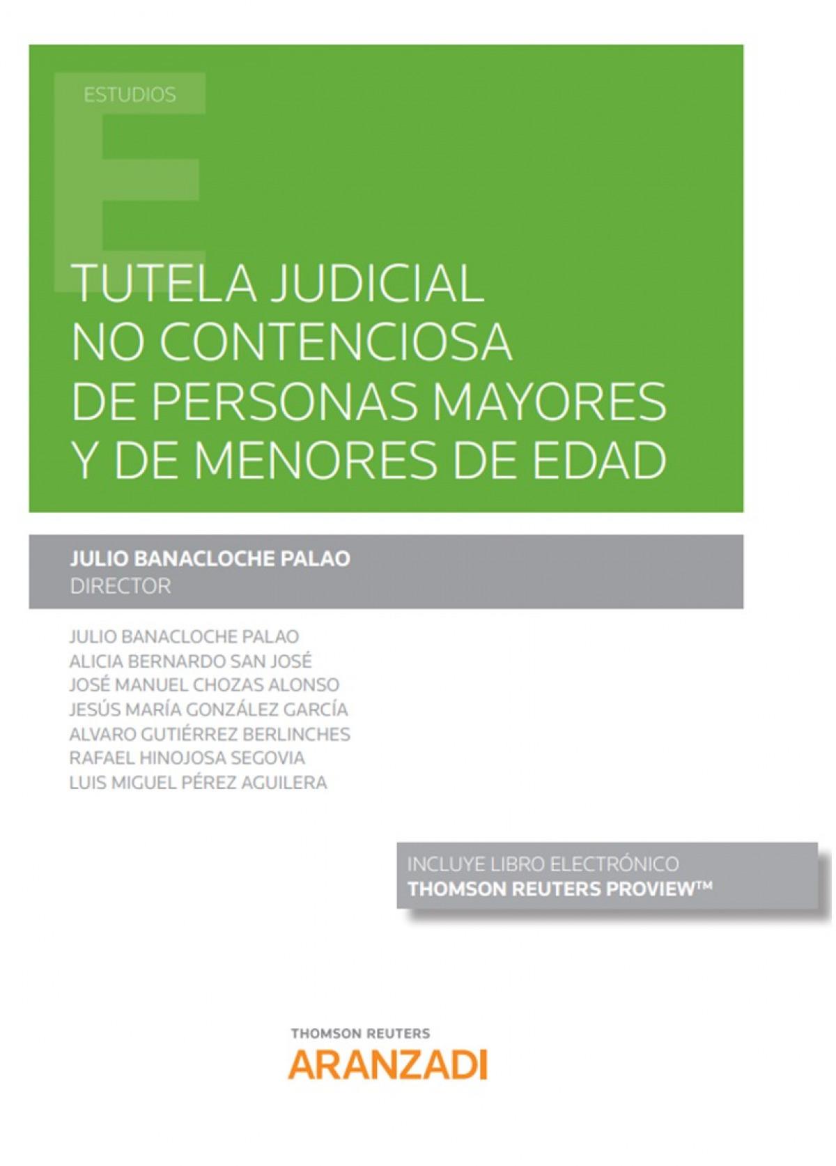 TUTELA JUDICIAL NO CONTENCIOSA PERSONAS MAYORES Y MENORES E 9788413452470
