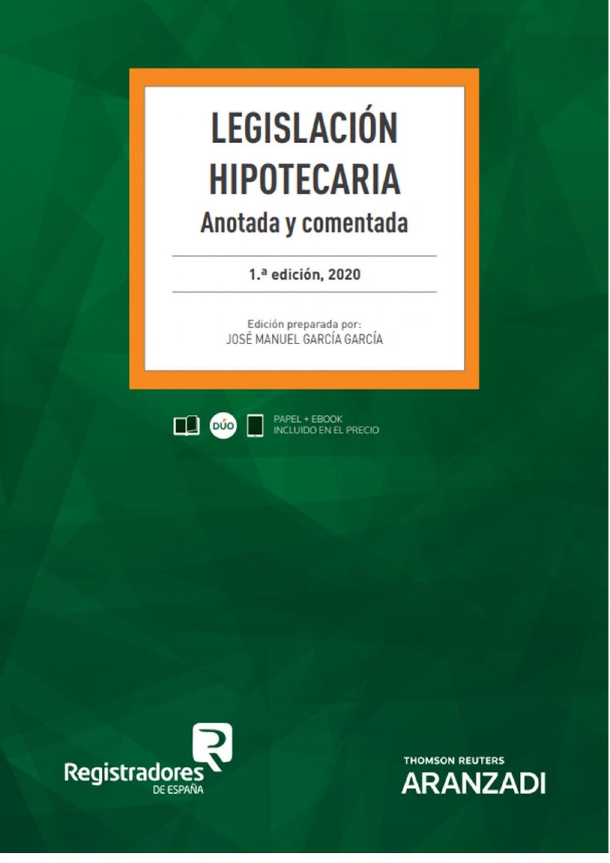 Legislación Hipotecaria (Papel + e-book) 9788413453835