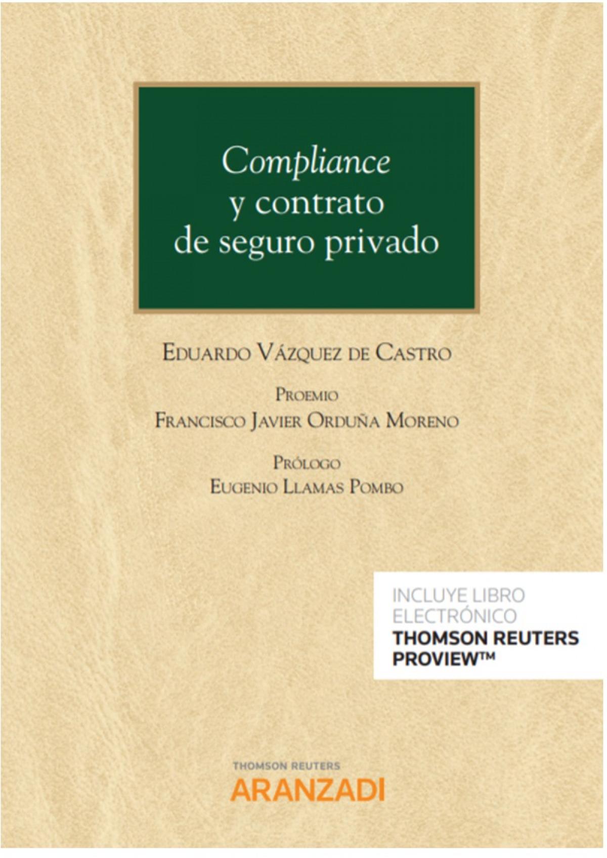 Compliance y contrato de seguro privado (dúo) 9788413454160