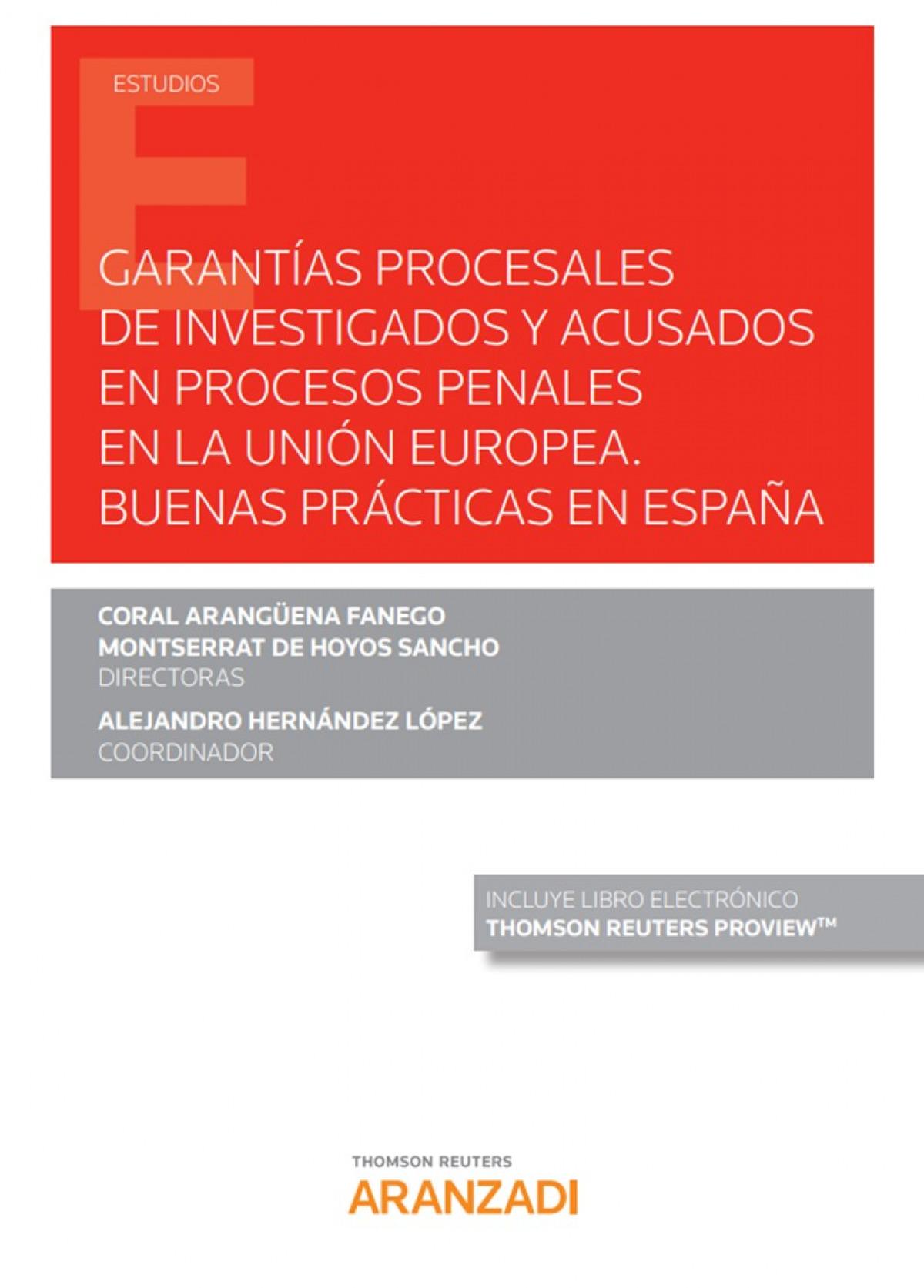 Garant¡as procesales de investigados y acusados en procesos penal 9788413454375