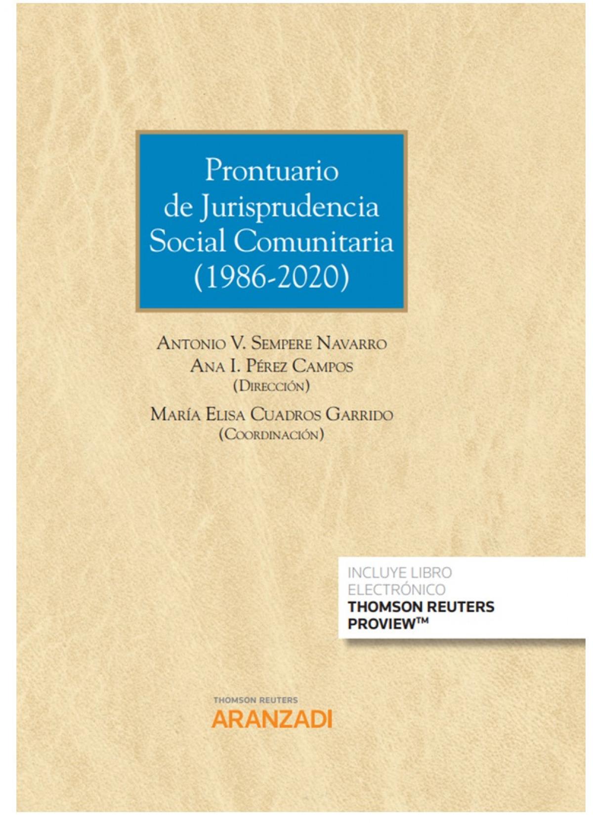 PRONTUARIO DE JURISPRUDENCIA SOCIAL COMUNITARIA DUO 9788413455204