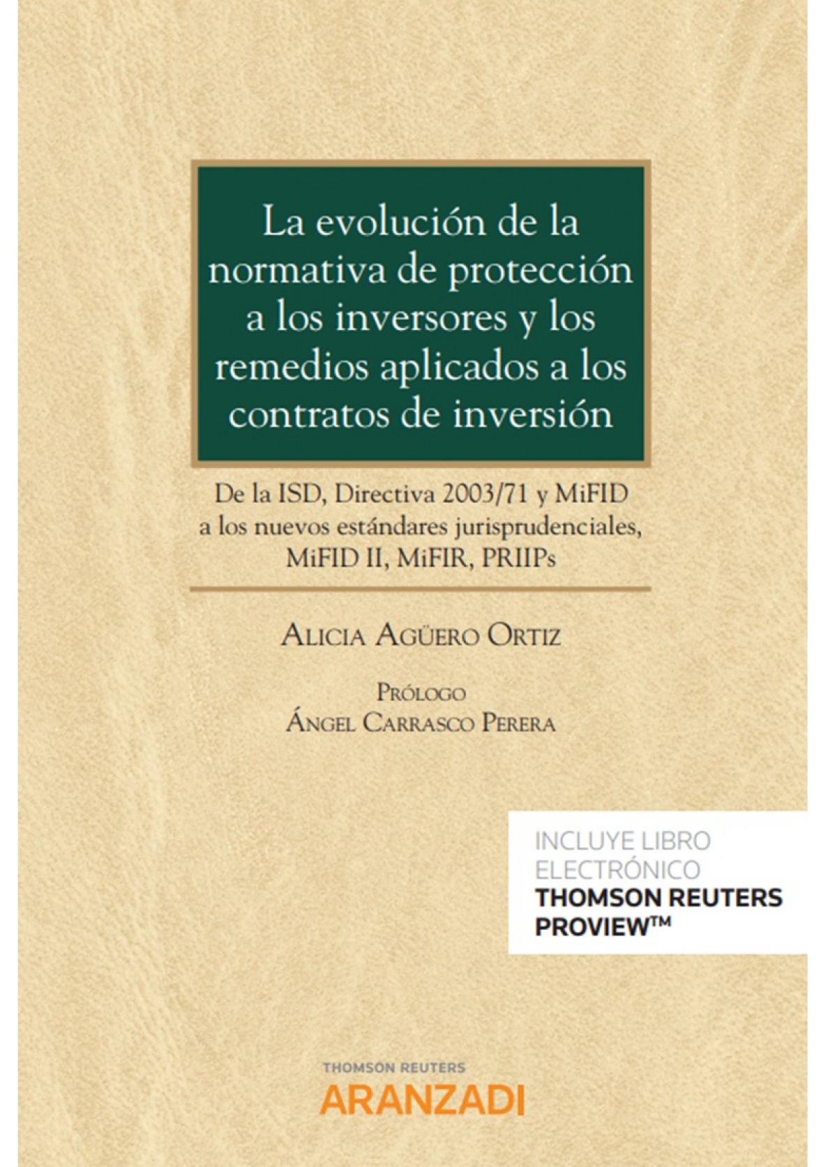 Evolución de la normativa de protección a los inversores y los re 9788413455280