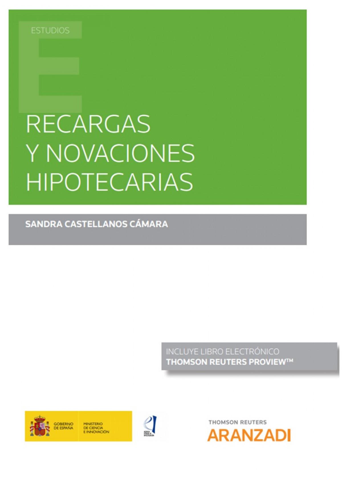RECARGAS Y NOVACIONES HIPOTECARIAS DUO 9788413456089