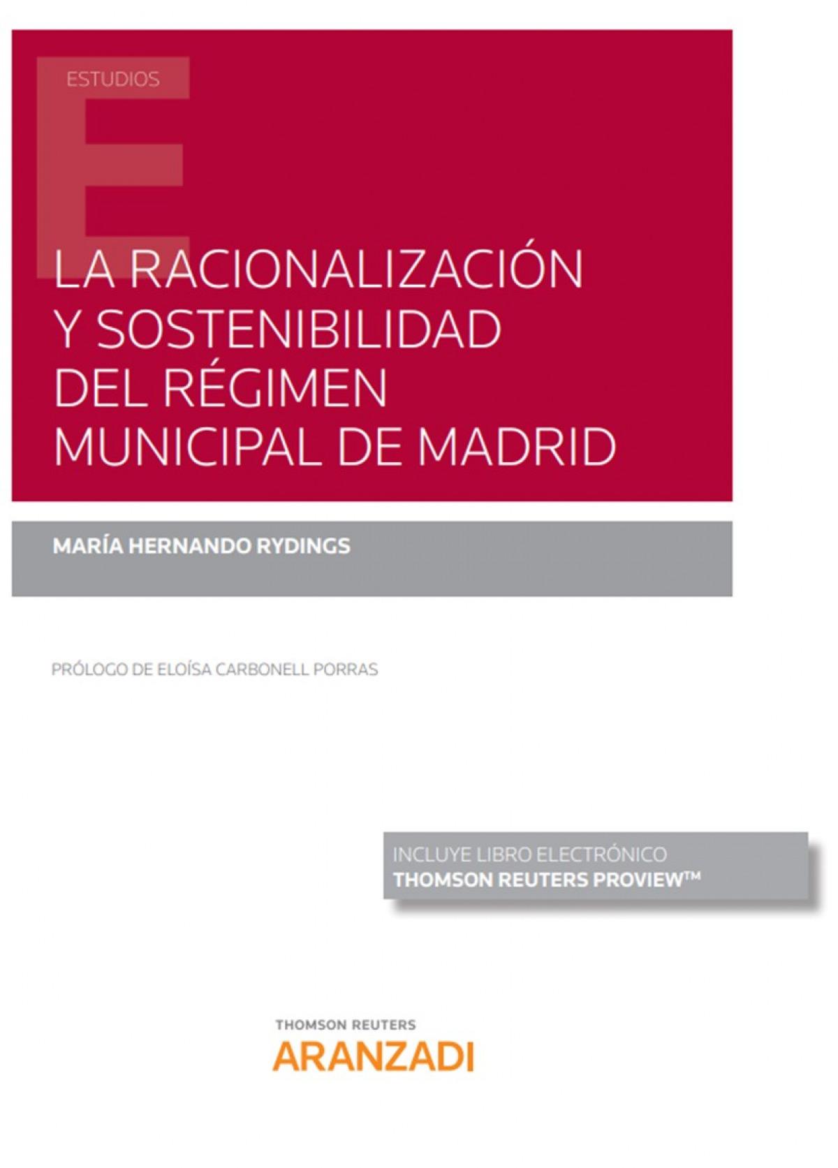 RACIONALIZACION Y SOSTENIBILIDAD REGIMEN MUNICIPAL MADRID 9788413456119