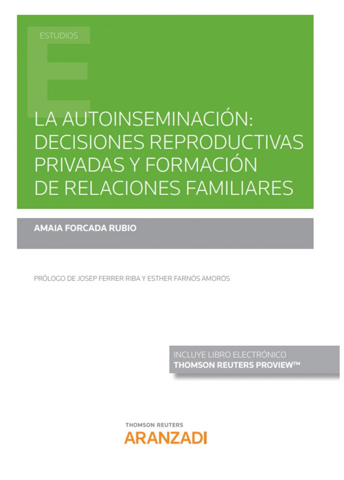AUTOINSEMINACION DECISIONES REPRODUCTIVAS PRIVADAS FORMACIO 9788413456188