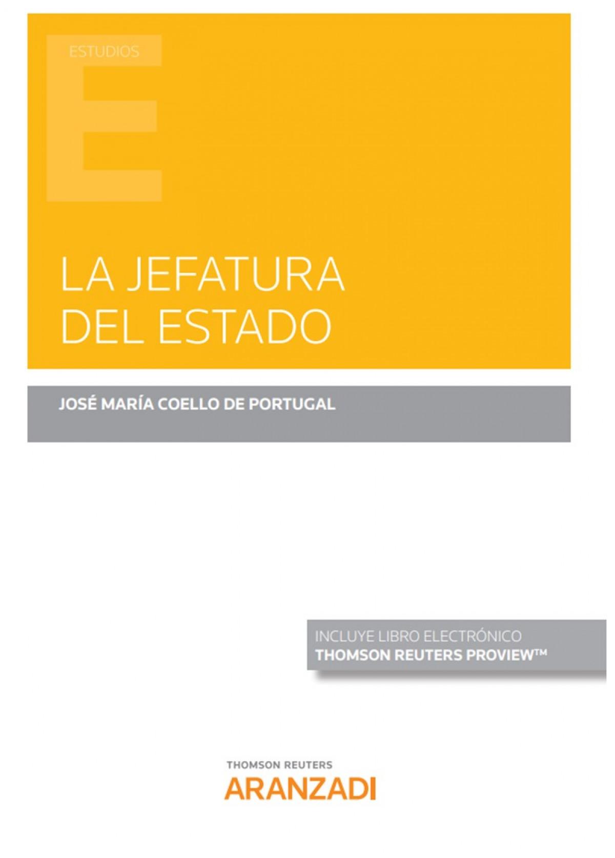 JEFATURA DEL ESTADO,LA DUO 9788413458731