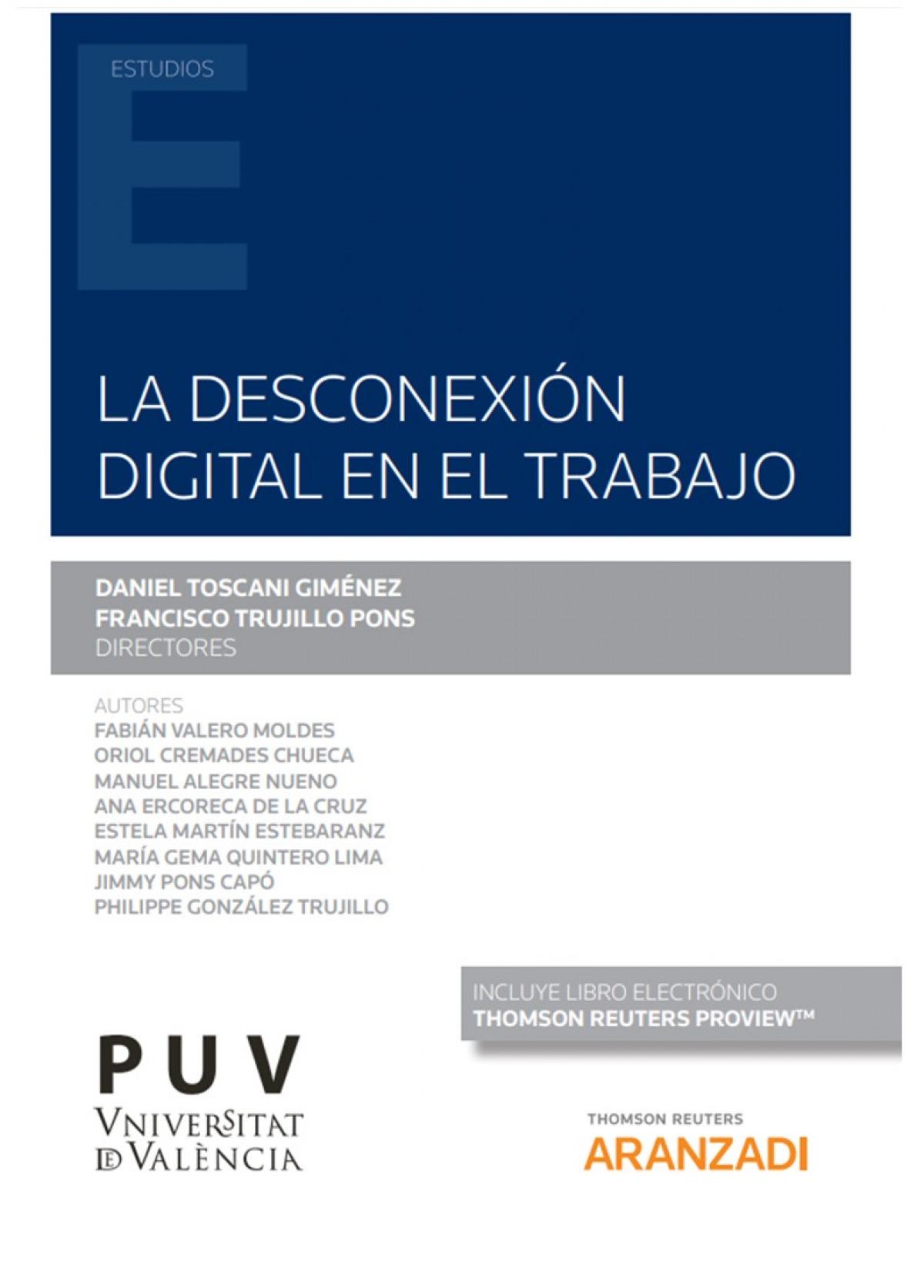 DESCONEXION DIGITAL EN EL TRABAJO,LA 9788413459677