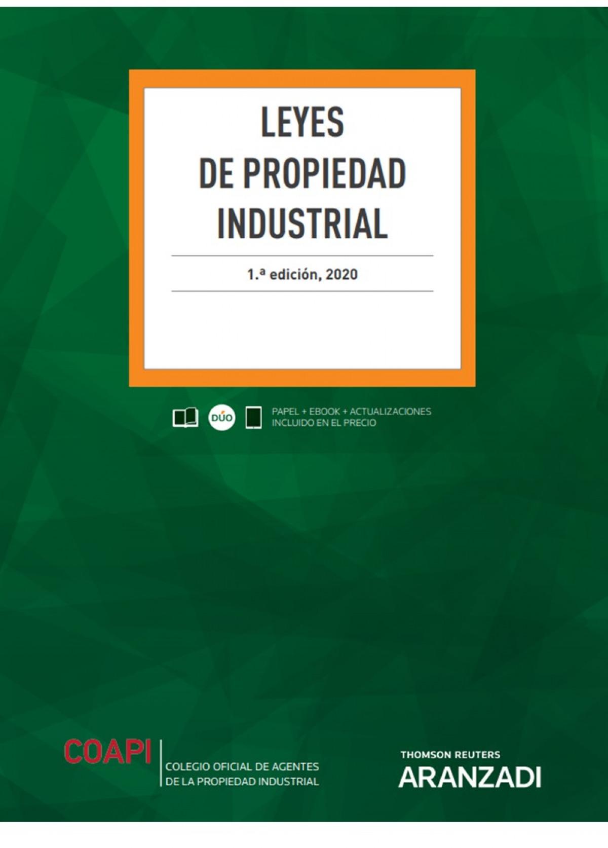 Leyes de Propiedad Industrial (Papel + e-book) 9788413467368